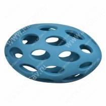 Мячик для регби сетчатый JW Sphericon Dog Toys из каучука, средний, голубой