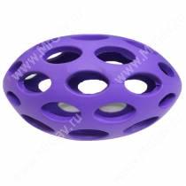 Мячик для регби сетчатый JW Sphericon Dog Toys из каучука, средний, фиолетовый