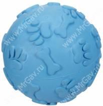 Мячик хихикающий JW Giggler из каучука, большой, голубой