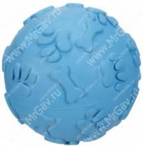 Мячик хихикающий JW Giggler из каучука, маленький, голубой