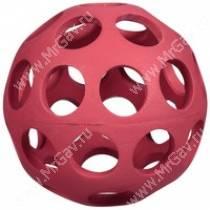 Мячик с круглыми отверстиями JW Hol-ee Bowler Dog Toys, малый, красный