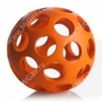 Мячик с круглыми отверстиями JW Hol-ee Bowler Dog Toys, малый, оранжевый