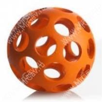 Мячик с круглыми отверстиями JW Hol-ee Bowler Dog Toys, большой, оранжевый