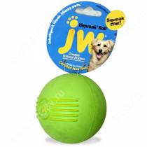 Мячик с пищалкой iSqueak Ball из каучука, малый, зеленый