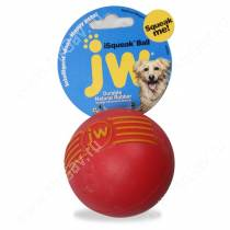 Мячик с пищалкой iSqueak Ball из каучука, средний, красный