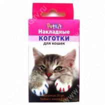 Накладные когти для кошек PetKit, M, голубые