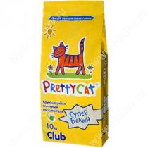 Наполнитель комкующийся PrettyCat Супер белый, 10 кг