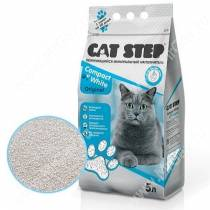 Наполнитель минеральный комкующийся Cat Step Compact White Original