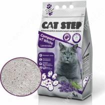 Наполнитель минеральный комкующийся Cat Step Compact White Lavender
