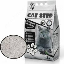 Наполнитель минеральный комкующийся Cat Step Compact White Carbon