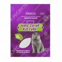 Наполнитель минеральный впитывающий Чистый котик