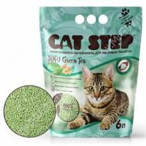 Наполнитель растительный комкующийся Cat Step Tofu Green Tea, 6 л