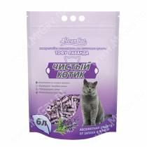 Наполнитель растительный комкующийся Чистый котик Tofu лаванда