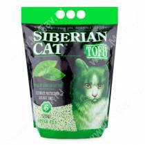Наполнитель растительный комкующийся Сибирская кошка Tofu зеленый чай