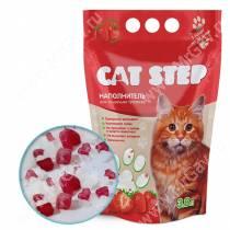 Наполнитель силикагелевый Cat Step Клубника, 3,8 л