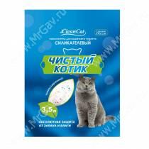 Наполнитель силикагелевый Чистый котик, 3,5 л