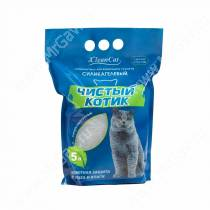 Наполнитель силикагелевый Чистый котик, 5 л