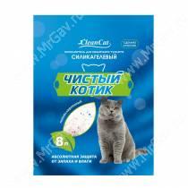 Наполнитель силикагелевый Чистый котик, 8 л