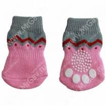 Носки для собак Triol Волна, S, розовые