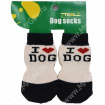Носки для собак Triol, XL черно-бежевые