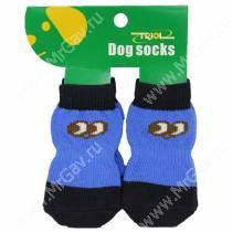 Носки для собак Triol, XL черно-синие