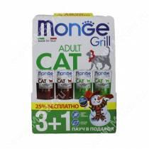 Новогодний набор для кошек Monge Grill 3+1