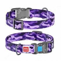 Ошейник Collar WAUDOG Nylon Фиолетовый камо, 49 см*2,5 см