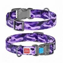 Ошейник Collar WAUDOG Nylon Фиолетовый камо, 58 см*2,5 см