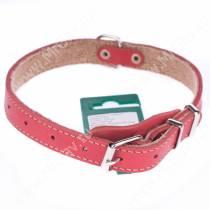 Ошейник кожаный Аркон, 44 см*2 см, с подкладкой, красный