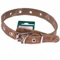 Ошейник кожаный Аркон Джунгли, 43 см*2 см, универсальный, песочный