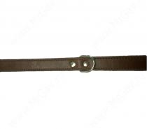 Ошейник кожаный премиум Аркон, 52 см*2,5 см, двойной, коньячный