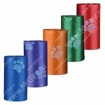 Пакеты для уборки за собаками Trixie, 14 рулонов по 15 шт., цветные
