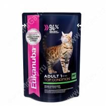 Пауч Eukanuba Adult Cat (Говядина в соусе), 85 г