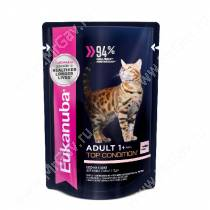 Пауч Eukanuba Adult Cat (Лосось в соусе), 85 г
