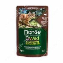 Пауч Monge Cat Bwild Grain Free для крупных кошек (Буйвол), 85 г