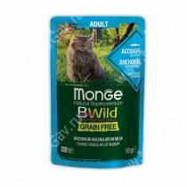 Пауч Monge Cat Bwild Grain Free для взрослых кошек (Анчоус), 85 г