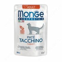 Пауч Monge Cat Monoprotein Pouch (Индейка), 85 г