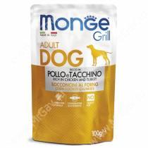 Пауч Monge Dog Grill Pouch (Курица с индейкой), 100 г