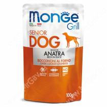 Пауч Monge Dog Grill Senior Pouch (Утка), 100 г
