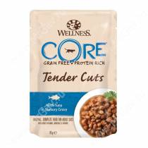 Паучи для кошек Wellness Core Tender Cuts из тунца (нарезка в соусе), 85 г