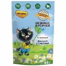 Паучи Мнямс Кот Федор Фермерская ярмарка для котят, телятина, 85 г