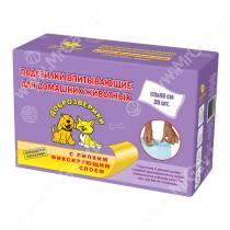 Пеленки впитывающие Доброзверики c липкой лентой, 40 см*60 см, 30 шт.