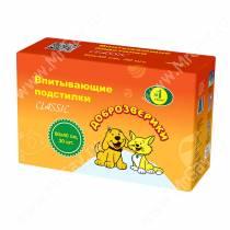 Пеленки впитывающие Доброзверики экономичная упаковка, 40 см*60 см, 30 шт.