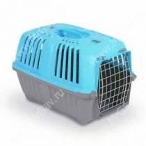 Переноска пластиковая MPS PRATICO, 48 см*31,5 см*33 см, голубая