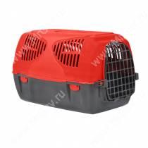 Переноска пластиковая MPS SIRIO BIG, 64 см*39 см*39 см, красная