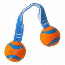 Перетяжка с 2-мя теннисными мячами Ультра CHUCKIT! Ultra duo tug, средняя