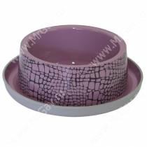 Пластиковая миска нескользящая Moderna Wildlife, 210 мл, розовая