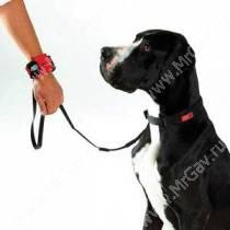 Поводок-браслет Patento Pet Hands Free Leash, 100 см*1 см, черный