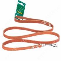 Поводок кожаный Аркон, 140 см*1,4 см, коньячный