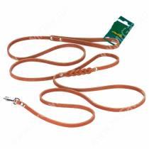 Поводок кожаный Аркон, 250 см*0,8 см, коньячный